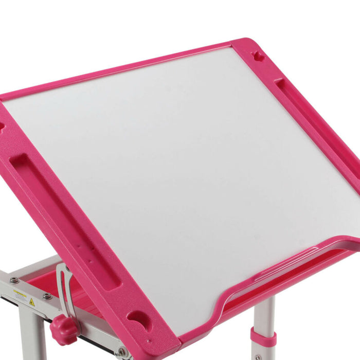 Adjustable Child Study Desk Kids Table w/ Drawer (Pink)