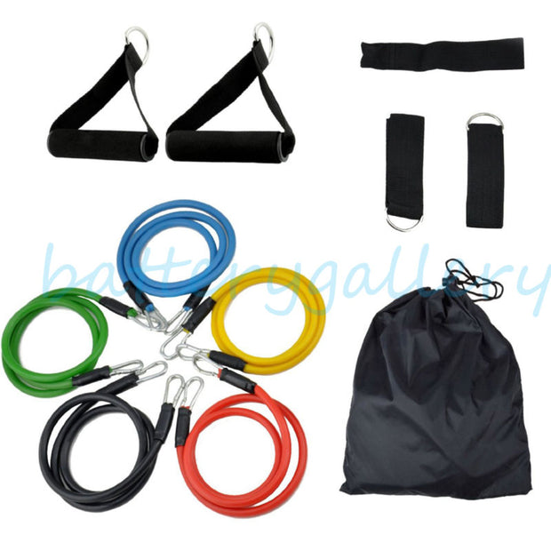 Resistance Set Yoga Pilates Abs Exercise Fitness Tube Workout Bands