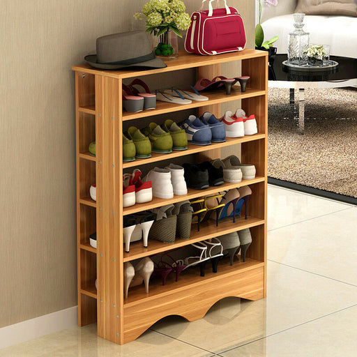 5 Tiers Multi-function Economy Storage Shoe Rack Standing Shelf