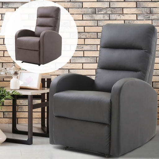 PU Leather Recliner Sofa Armrest Chair