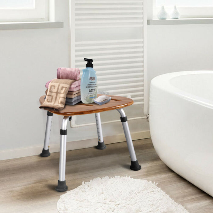 Bamboo Bath Seat Shower Chair