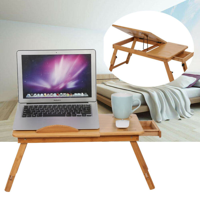 Adjustable Laptop Table Desk Lap Sofa Bed Tray
