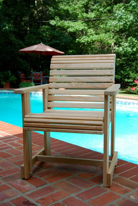 Garden Bench Outdoor Wooden Bench Cypress Unfinished