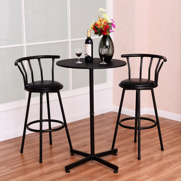 Bar Table Set with Stools Bistro Pub