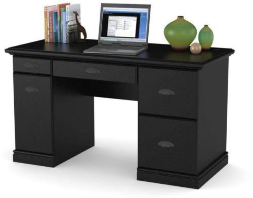 Computer Desk Workstation Table Modern Executive Wood