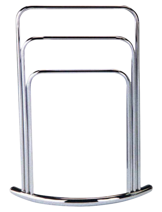 Chrome Finish Towel Rack Stand