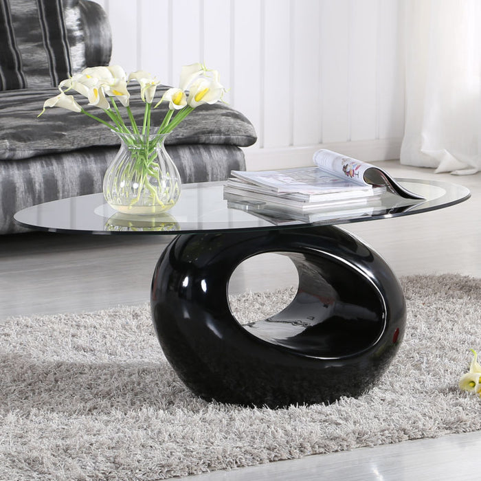 Contemporary  Coffee Table - Black - Toyzor.com