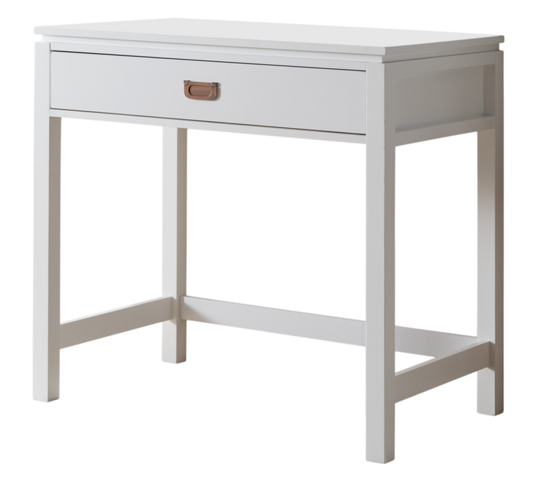 White Wood Home & Office Workstation Computer Desk with Drawer