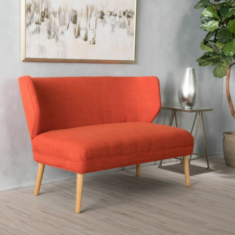 Modern Fabric Loveseat Sofa