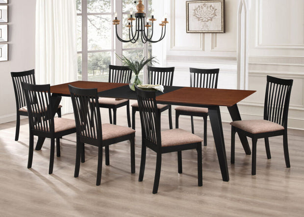 9-Piece Wood Dining Set, Expandable Leaf Table & 8 Chair