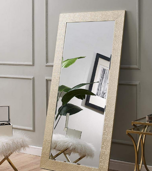 Large Full Length Gold Mosaic Ornate Frame Floor Mirror Leaning Wall Lounge