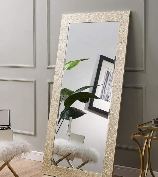 Large Full Length Gold Mosaic Ornate Frame Floor Mirror Leaning Wall L Toyzor