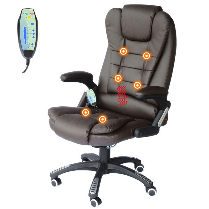 Heated Vibrating Office Massage Chair Executive Ergonomic Computer Desk
