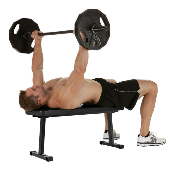 Flat Exercise Weight Lifting Bench Press Workout
