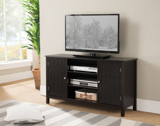 Espresso TV Stand Entertainment Center With Storage