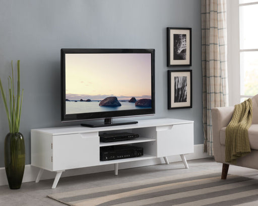 White TV Stand Storage Console Entertainment Center