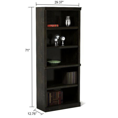 Tall Wood Bookshelf Modern Display Bookcases