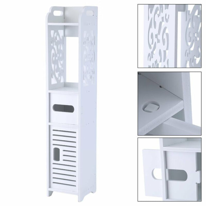 Floor Storage Cabinet With Door Shelves Organizer Free Standing