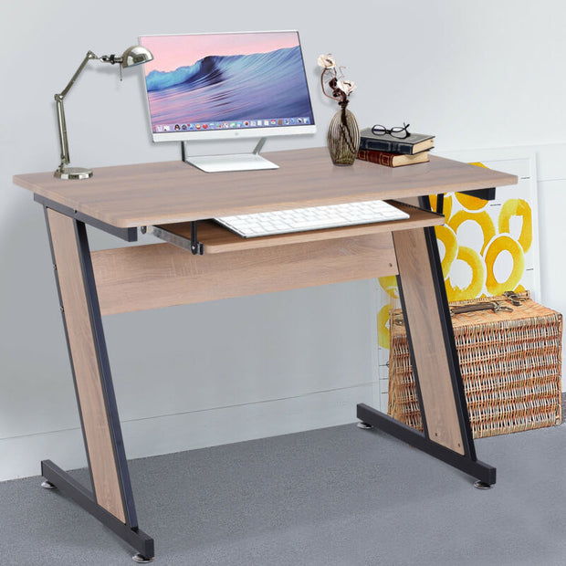 Corner Computer Desk Wood Top