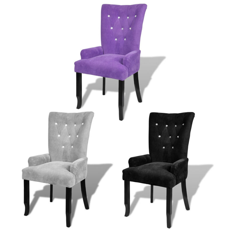 Luxury High Back Dining Chair Tufted Velvet Accent Armchair