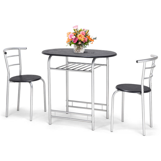 Bistro Dining Set Table and Chairs Kitchen Furniture Pub Home Restaurant