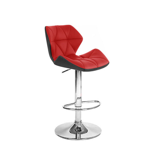 Modern  Leather Bar/Counter Stool Adjustable Two-Tone Spyder