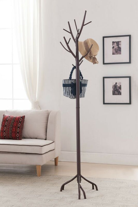 Metal Hall Tree Coat & Hat Rack with Branches