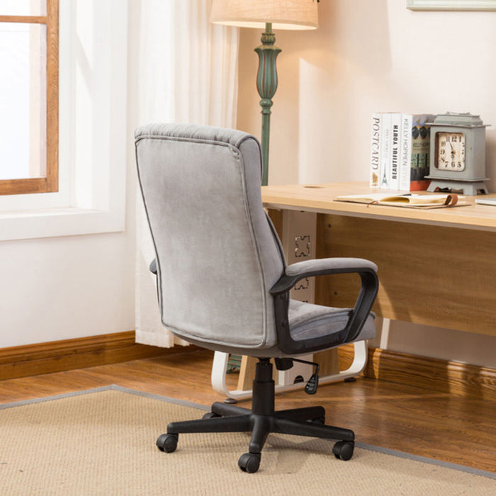 Executive Office Chair Lumber Support Computer Desk Padded Microfiber