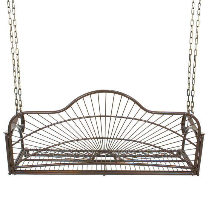 Iron Hanging Porch Swing With Chain Chair Seat Bench Deck