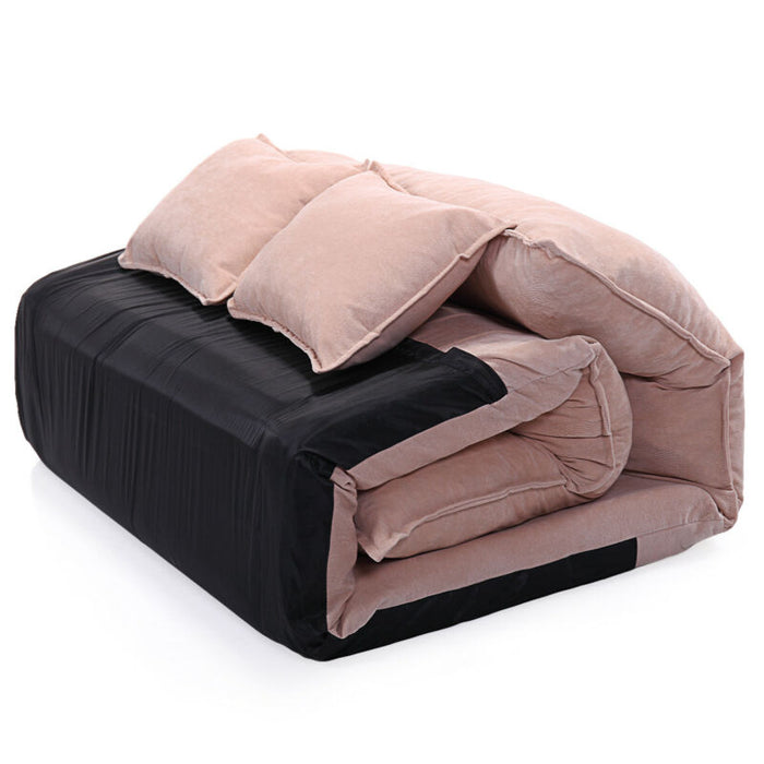 Modern Foldable Leisure Adjustable Bed Video Gaming Sofa with 2 Pillows