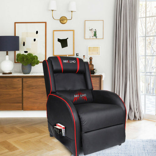 PU Leather Gaming Modern Recliner Chair