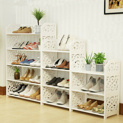 3/4 Tiers Shoe Rack Shelf Cabinet Storage Organizer
