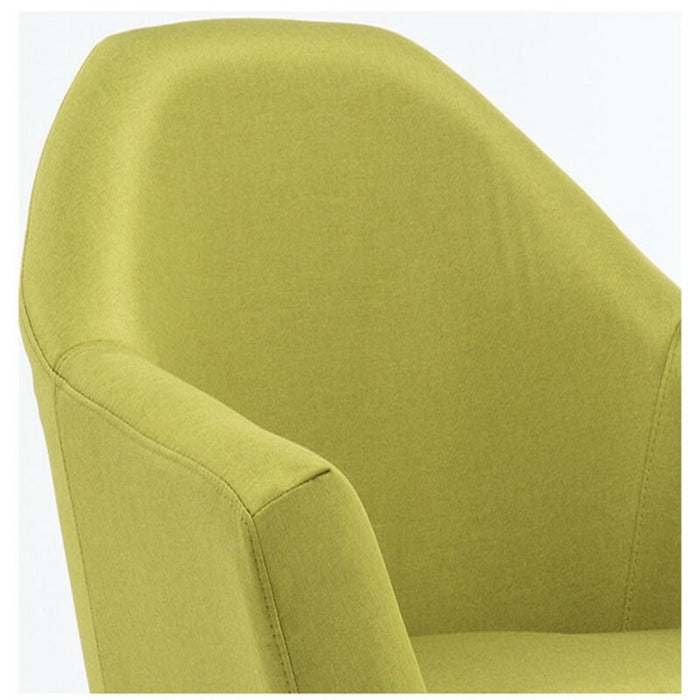 Elegant Design Fabric Leg Arm Club Chair With Pillows Set of 2