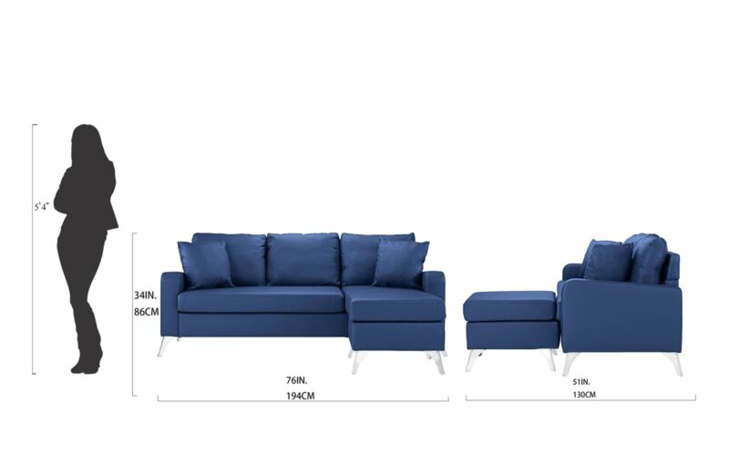 Modern Home Furniture Bonded Leather Sectional Sofa