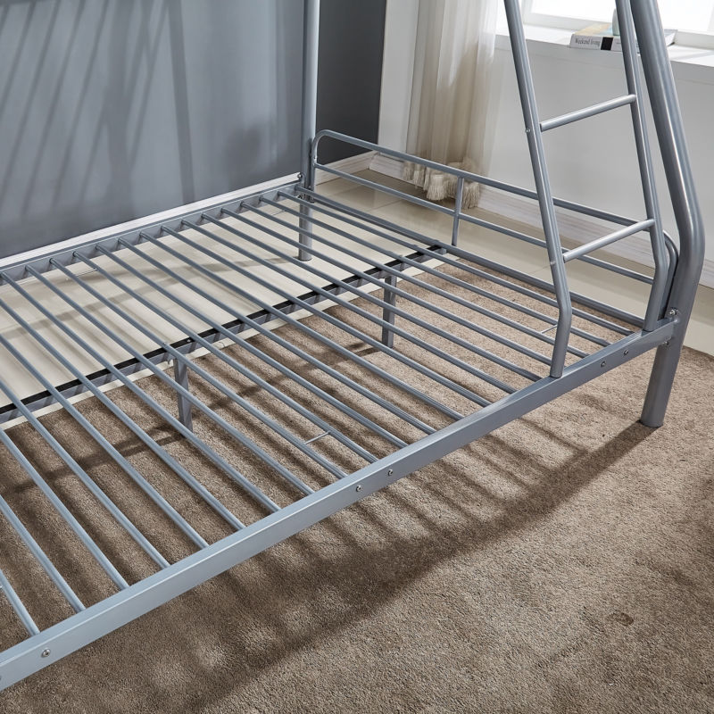 Metal Twin over Full Bunk Beds Bedroom Furniture w/ Ladder