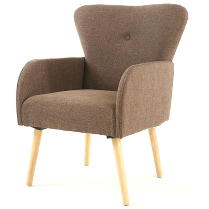 Fabric Upholstered Leg Arm Club Chair  Set of 2