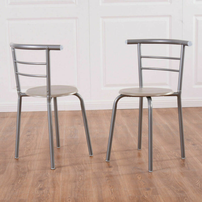 3 Piece Dining Set Table 2 Chairs Bistro Pub