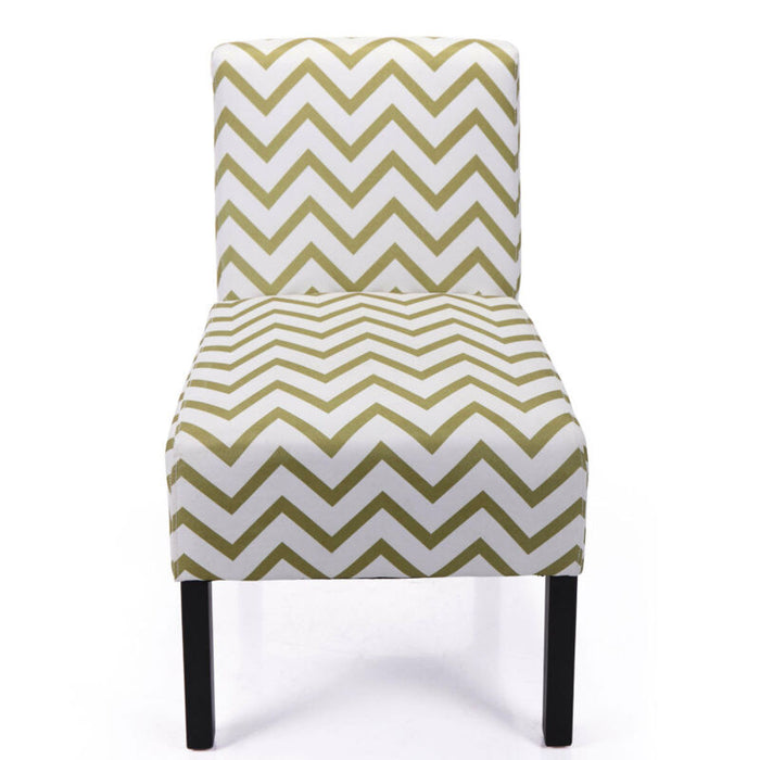 Armless Fabric Upholstered Accent Chair