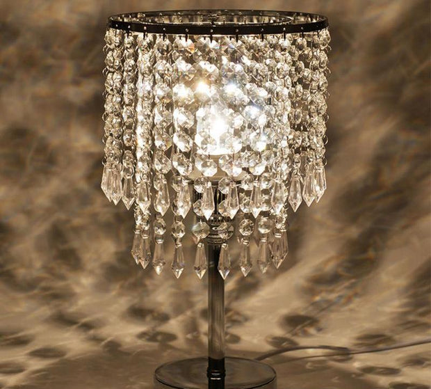 Crystal Chandelier Modern Table Lamp Bedroom Desk Light