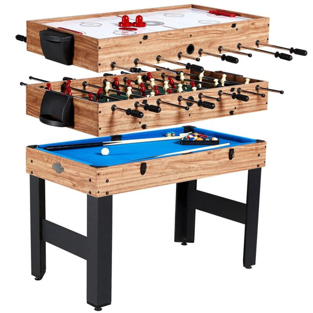 3 in 1 Pool Billiard Slide Hockey Foosball Combo Arcade Game Table