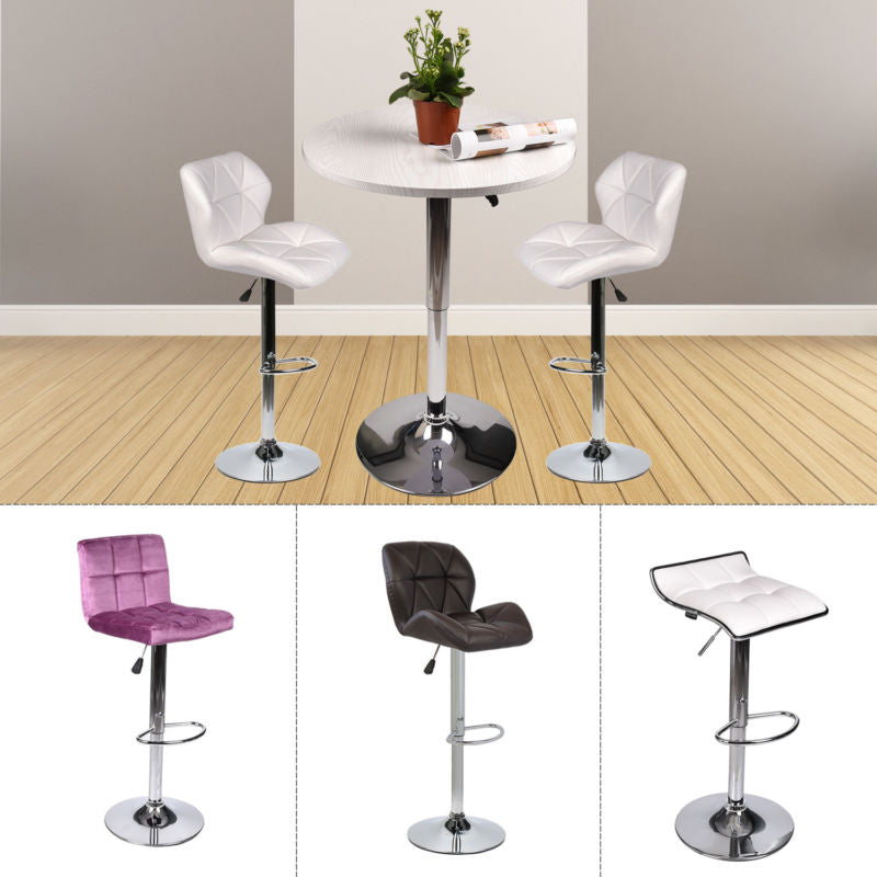 3-Piece Pub Table Set Bar Stools Adjustable Dining Chair Counter Height Kitchen