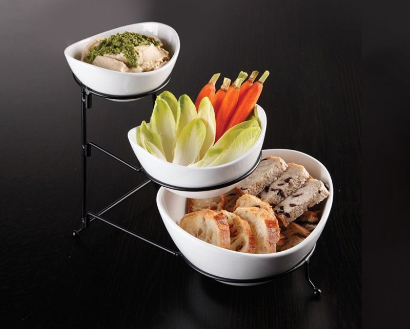 3 Tier Oval Serving Bowls - Toyzor.com