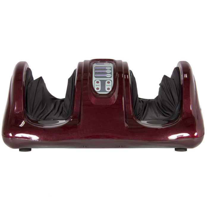 Electric Foot Massager w/ Remote - 3 Modes - Red