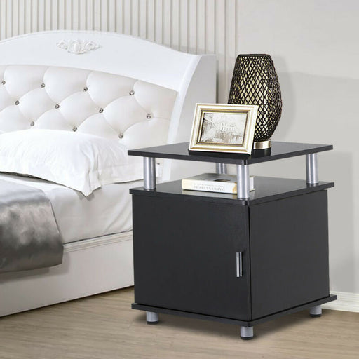 Night Stands Bedside End Table Cabinet Storage