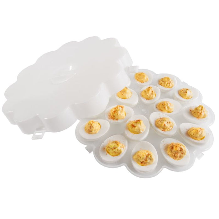 Deviled Egg Trays with Snap On Lids  - Set of 2 - Toyzor.com