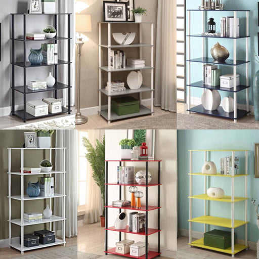 Portable 5 Shelves Cabinet Rack