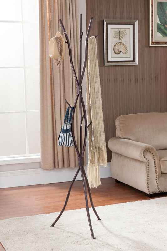 Bronze Finish Metal Tree Branches Coat & Hat Rack Stand