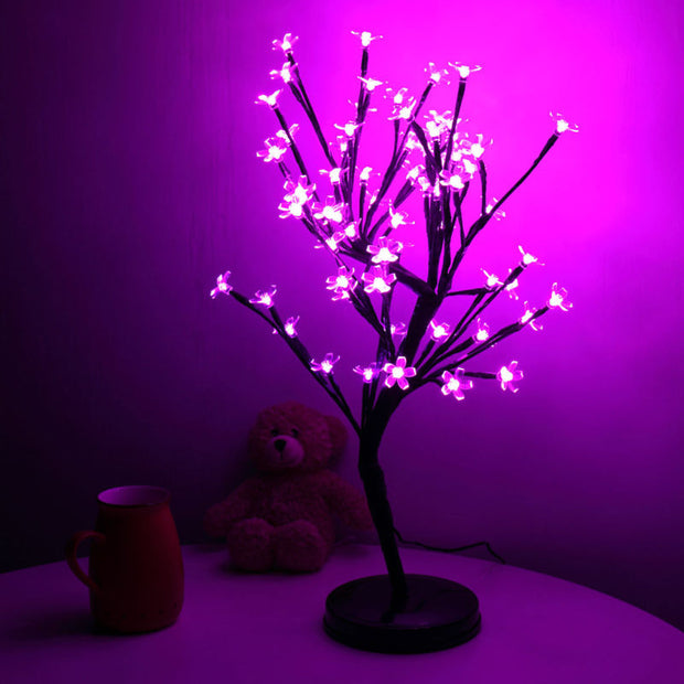 20Inch 64LEDs Cherry Blossom Tree Light for Desk Top - Pink - Toyzor.com