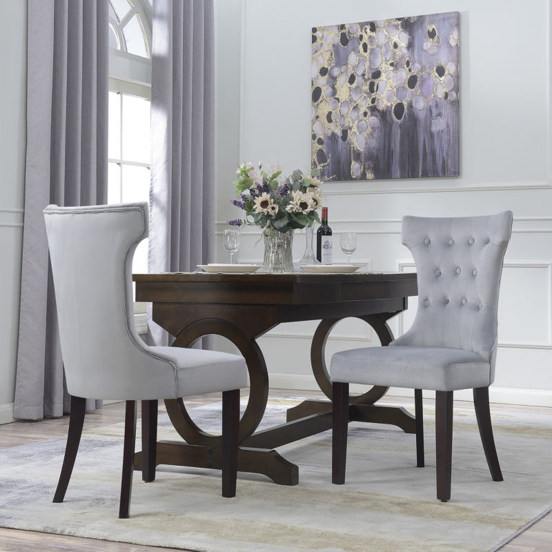 Set of 2 Premium Armless Dining Accent Chair