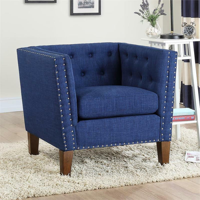 Blue Accent Chair